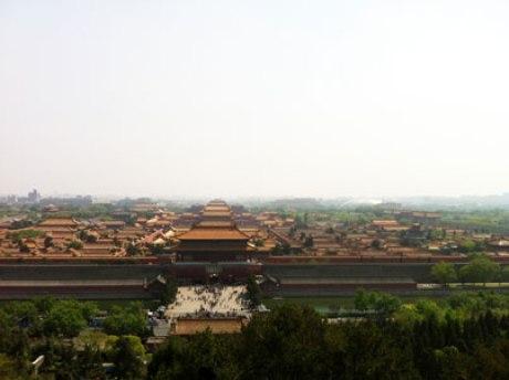 Vue sur la cité interdite depuis le parc Jingshan